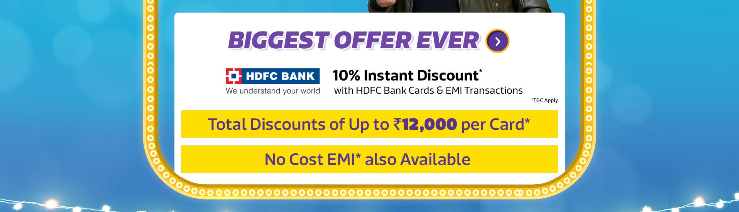 HDFC 10% Off