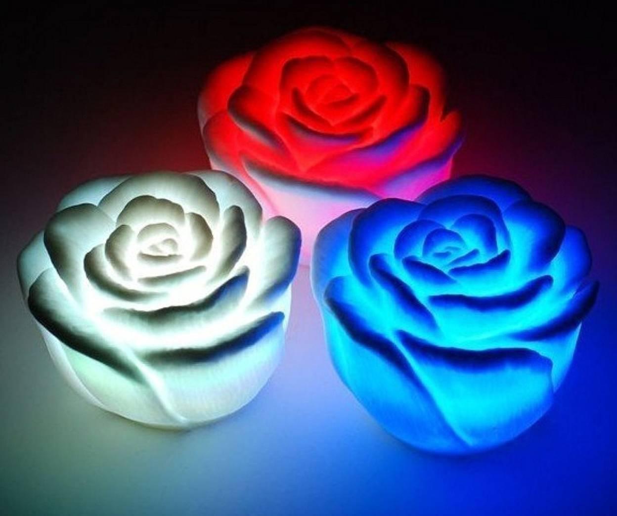 Как сделать так чтобы цветы светились