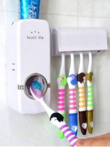 German Chef Toothpaste Dispenser with Toothbrush Holder Plastic Toothbrush Holder