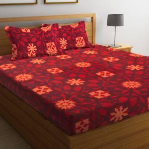 Flipkart SmartBuy 104 TC Cotton Double Motifs Bedsheet