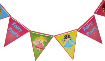 Untumble Fairy Theme Triangular Buntings Pennant Banner(10 ft, Pack of 1)