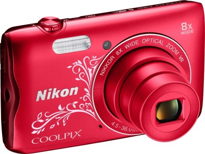 Nikon Coolpix A300 Point & Shoot Camera(Red Design)