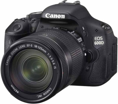 Canon EOS 600D (Body with EF-S 18-135 mm IS II Lens) DSLR Camera (Body only)(Black)