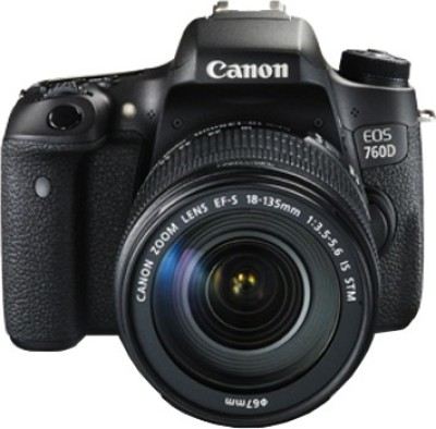 Canon EOS 760D (Kit with EF-S 18 - 135 mm IS STM) DSLR Camera(Black)