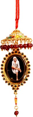 Sigaram Colorfully Decorated SAI BABA Photo - K143 Car Hanging Ornament(Pack of 1)