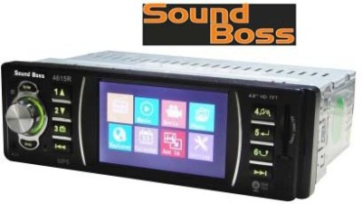 Sound Boss SB-27 MP5 PLAYER WITH REAR VIEW CAMERA Connectivity Car Stereo(Single Din)