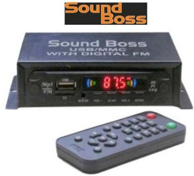 Sound Boss Mp3 With Dancing Led Car Stereo(Single Din)