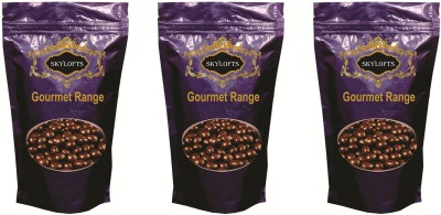 Skylofts Luscious Covered Nut Butterscotch, Blueberry & Roasted Almonds Pouches Chocolate Bars(Pack of 3, 300 g)