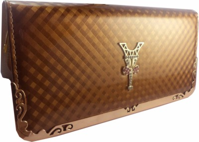 Casanova Fashion Women Gold  Clutch