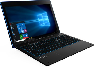 Micromax Canvas Laptab II (WIFI) Atom Quad Core 4th Gen - (2 GB/32 GB EMMC Storage/Windows 10 Home) LT777W 2 in 1 Laptop(11.6 inch, Black, 1.5 kg)