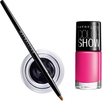 Maybelline Lasting Drama Gel Eye Liner - 1 with Offer 2.5 g(Black - 01)