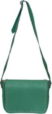 Essart Men & Women Green PU Sling Bag