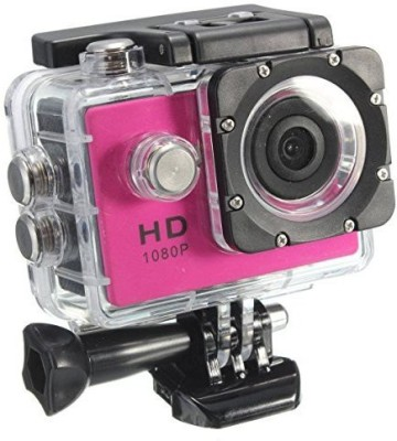 Shrih 8 mp LCD Display Sports and Action Camera(Pink 8 MP)
