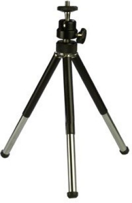 Techvik Adjustable Mini Mobile Phone Camera Stand Metal Tripod(Black, Supports Up to 500 g)