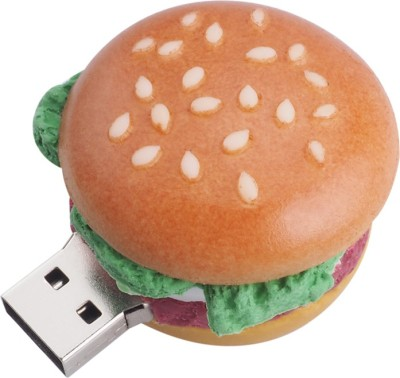Microware Burger Shape 16gb Pendrive 16 GB Pen Drive(Brown)