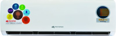 Micromax 1.5 Ton 5 Star BEE Rating 2017 Split AC  - White(ACS18ED5CS02, Copper Condenser)