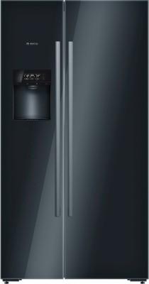 Bosch 638 L Frost Free Side by Side Refrigerator(Glass Black, KAD92SB30)