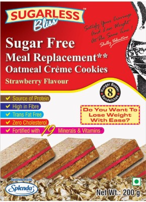 Sugarless Bliss Sugar Free Oatmeal Crme Cookies - Strawberry(200 g)