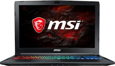 MSI GP Core i7 7th Gen - (16 GB/1 TB HDD/128 GB SSD/Windows 10 Home/4 GB Graphics) GP62M 7REX-1859XIN Gaming Laptop(15.6 inch, Black, 2.2 g)
