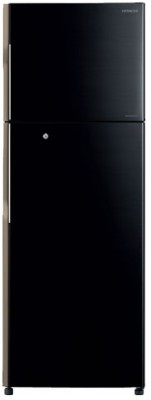 Hitachi 451 L Frost Free Double Door Refrigerator(Glass Black, R-VG470PND3- (GBK))