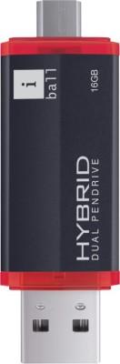 Iball Hybrid 16 GB OTG Drive(Black, Type A to Micro USB)