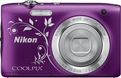 Nikon Coolpix A100 Point and Shoot Camera(Purple 20.1 MP)