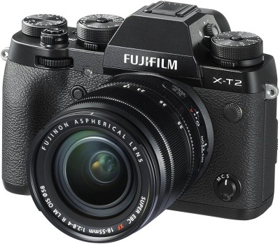 Fujifilm X-T2 with 18-55 mm F2.8-4.0 R LM OIS Lens Mirrorless Camera Kit(Black)