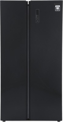 Panasonic 584 L Frost Free Side by Side Refrigerator(Black Glass Door, NR-BS60GKX1)