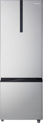 Panasonic 342 L Frost Free Double Door Bottom Mount Refrigerator(Shining Silver, NR-BR347RSX1)