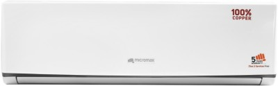 Micromax 1.5 Ton 3 Star BEE Rating 2018 Split AC  - White(ACS18C3C4QS3WH, Copper Condenser)