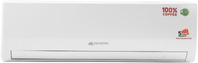 Micromax 1.5 Ton 3 Star BEE Rating 2018 Split AC  - White(ACS18C3T3QS6WH, Copper Condenser)