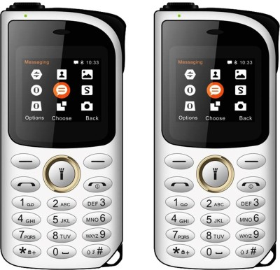 I Kall K14 New Combo of Two Mobiles(White & Gold)