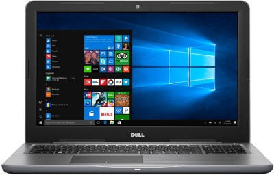 Dell Inspiron 15 5000 Core i3 6th Gen - (4 GB/1 TB HDD/Windows 10 Home) 5567 Laptop(15.6 inch, Grey, 2.36 kg)