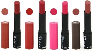 Bonjour Paris Creamy Matte Lipstick 05021610 A(14 g, Wine, Magenta, Nude, Mauve)