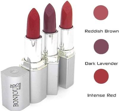 Bonjour Paris Red Lipstick Combo 25 60 67(12 g, Multicolor,)