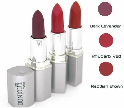 Bonjour Paris Pink Lipstick Combo 60 62 67(12 g, Multicolor,)