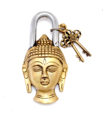 Handecor Buddha Design Golden Functional Padlock(Golden)