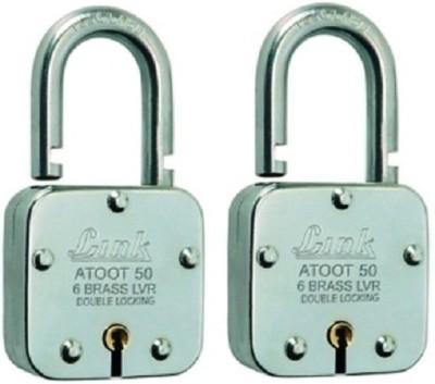 Link Atoot 50mm Set Of 2 Padlock(Silver)