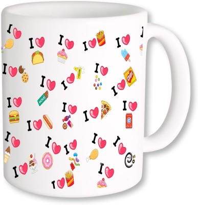 PhotogiftsIndia I Love Foods Ceramic Mug(325 ml)