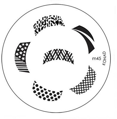 Konad Stamping Nail Art Image Plate - M45