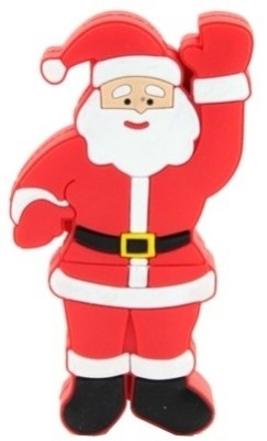 Microware Santa Claus Raising Hand Shape 4 GB Pen Drive(Red)