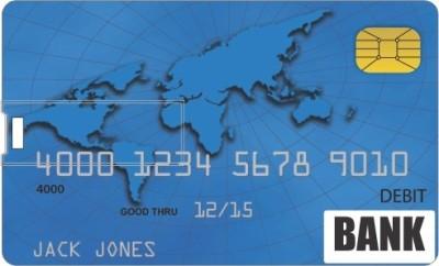 Printland Credit card Shape Pendrive PC85935 8 GB Pen Drive(Multicolor)