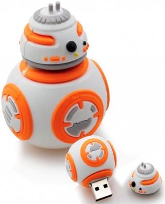 Microware Starwars BB Robot 64 GB Pen Drive(White, Orange)