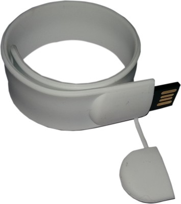FLIPFIT 100 % Original Highspeed SILICON STYLISH FASHION WRIST BAND 32 GB Pen Drive(White)