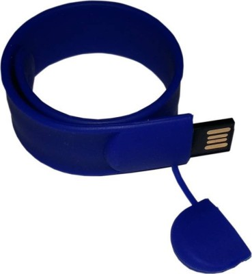 IZED 100 % Original Highspeed SILICON STYLISH FASHION WRIST BAND 8 GB Pen Drive(Blue)