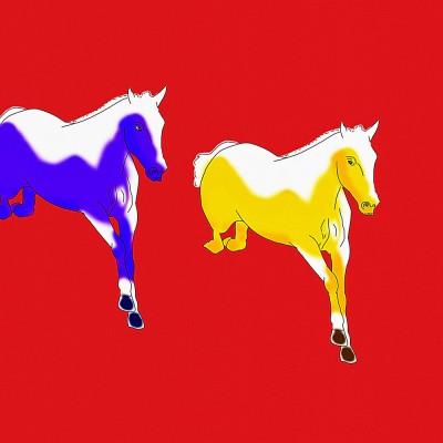 Horses Z07 Paper Print(40 inch X 40 inch)