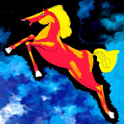Horse Z11 Canvas Art(36 inch X 36 inch)