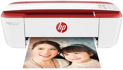 HP Desk Jet Ink Advantage 3777 Multi-function Wireless Printer(Cardinal Red, Ink Cartridge)