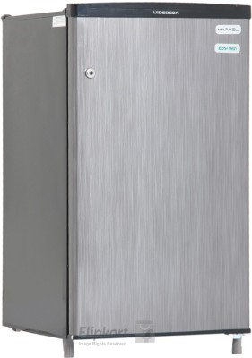 Videocon 80 L Direct Cool Single Door Refrigerator(Silver Hairline, VC091PSH-HDW)