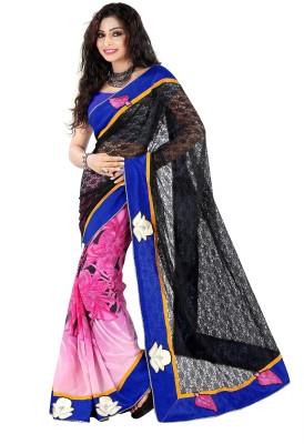 Pbs Prints Self Design Fashion Net, Jacquard, Georgette Sari